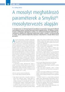 Cikk: A mosolyt meghatározó paraméterek a Smylist® mosolytervezés alapján