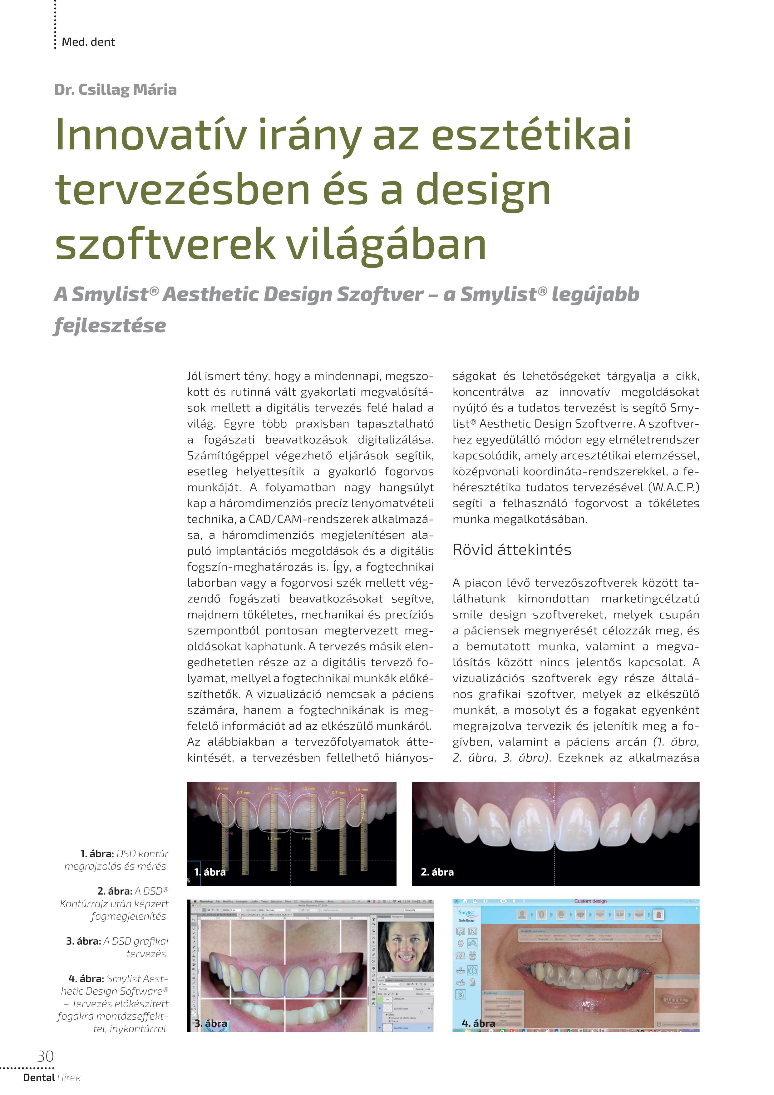 Cikk: Innovatív irány az esztétikai tervezésben és a design  szoftverek világában